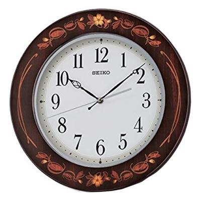 عکس نمای روبرو ساعت دیواری برند سیکو مدل QXA647BL