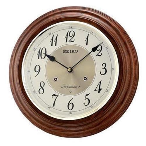 عکس نمای روبرو ساعت دیواری برند سیکو مدل QXM283BN