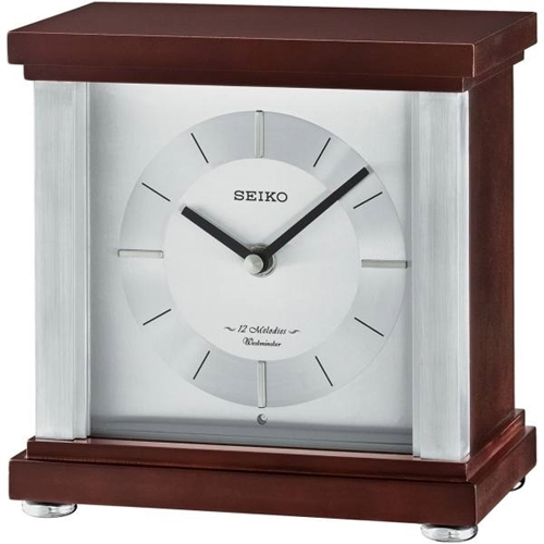 عکس نمای روبرو ساعت رومیزی برند سیکو مدل QXW247BL
