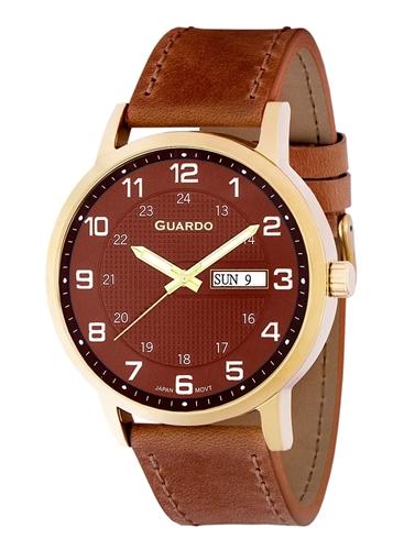 عکس نمای روبرو ساعت مچی برند گوآردو مدل 10656-4