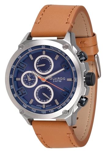 عکس نمای روبرو ساعت مچی برند گوآردو مدل 11446-2