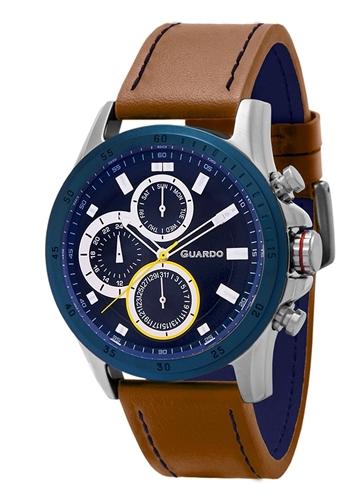 عکس نمای روبرو ساعت مچی برند گوآردو مدل 11687-2