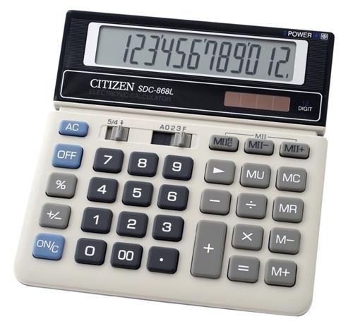 ماشین حساب سیتیزن مدل SDC-868L