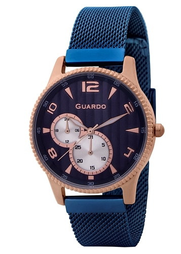 عکس نمای روبرو ساعت مچی برند گوآردو مدل 11718-6