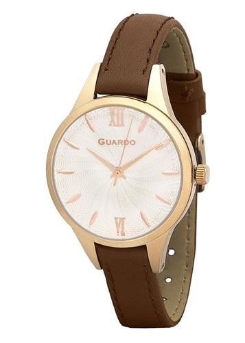 عکس نمای روبرو ساعت مچی برند گوآردو مدل B01099-2