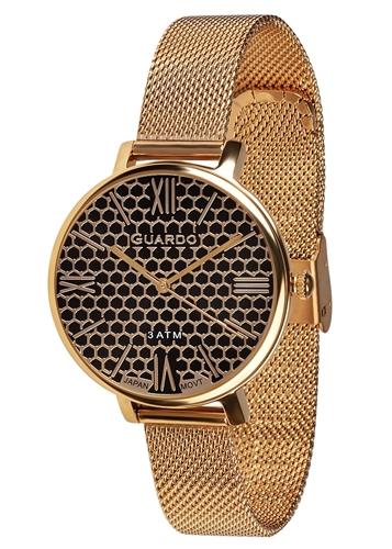 عکس نمای روبرو ساعت مچی برند گوآردو مدل B01107-2