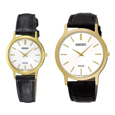 ساعت مچی ست مردانه زنانه کلاسیک برند سیکو مدل SUP872P1 و SUP300P1